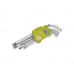 L-kľúče imbus, sada 9ks, 1,5-2-2,5-3-4-5-6-8-10mm, s guľôčkou EXTOL CRAFT