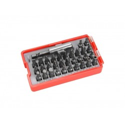 Bity, sada 33ks, magnetický nadstavec, CrV, plastová krabička, EXTOL PREMIUM