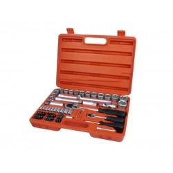 Sada nástrčných kľúčov 75-dielna 75ks, 1 4 , 1 2 , CrV, EXTOL PREMIUM