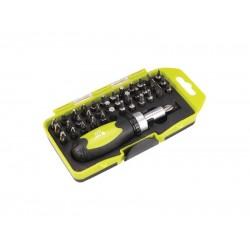 Skrutkovač račňový, nástrčné kľúče a hroty, sada 38ks, CrV EXTOL CRAFT