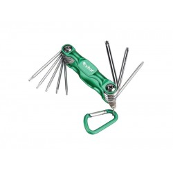 Kľúče TORX, sada 8ks, T6-T7-T8-T9-T10-T15-T20-T25 EXTOL CRAFT