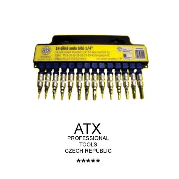 Sada bitov 14 dielna 1/4 torx a imbus - ATX profi