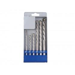 Vrtáky príklepové do betónu, sada 6ks, ∅5-6-8x110mm, 8-10-12x160mm, EXTOL CRAFT