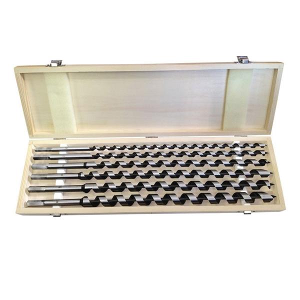 Vrtáky do dreva 10-20mm, dĺžka 460mm, sada 6ks, drevevné puzdro, EXTOL PREMIUM
