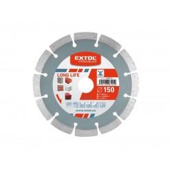 Kotúč diamantový rezný segmentový Long Life, 125x22, 2mm, suché rezanie, EXTOL PREMIUM