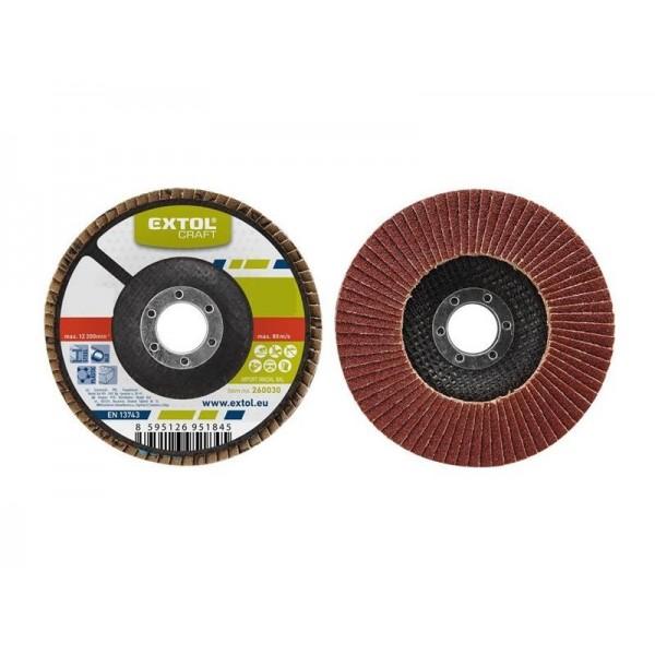 Kotúč lamelový šikmý korundový, P60, 115mm, KORUND, EXTOL CRAFT 260006