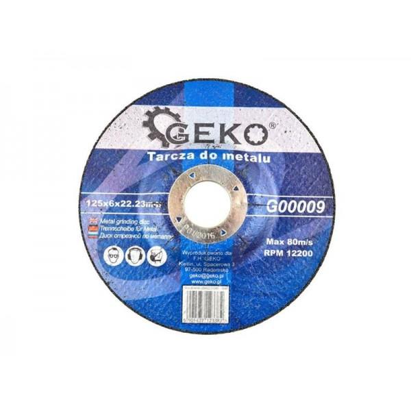 Kotúč rezný na oceľ, 125x6x22,23mm, GEKO