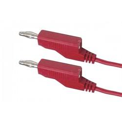 Propojovací kábel 0,35mm2 1m s banánky červený