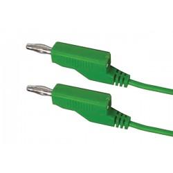 Prepojovací kábel 0,35mm2 1m s banánikmi zelený