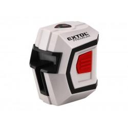 Laser líniový, krížový samonivelačný 1H1V, presnosť 0,5mm / m, rozsah l .: 10m, EXTOL PREMIUM 8823301