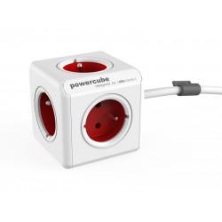 Zásuvka PowerCube EXTENDED s káblom 1,5m červená