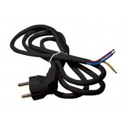 Flexo šnúra PVC 3x1,5mm 5m čierna