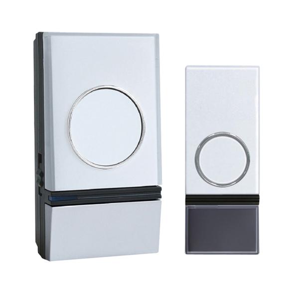 Zvonček domový bezdrôtový 1L28 32 melódií, learning code, biely