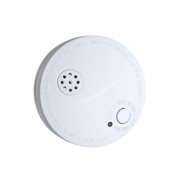 Detektor dymu + alarm, 85dB, biely + 9V batéria