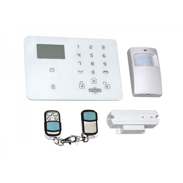 Bezdrôtový domový GSM alarm s GSM telefónom a SOS volaním Hutermann Guard HG-209-CZ