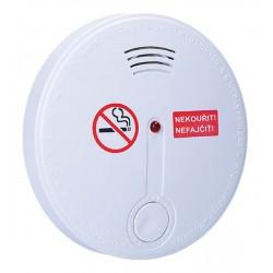 Detektor cigaretového dymu + alarm, 85dB, biely + 9v batéria