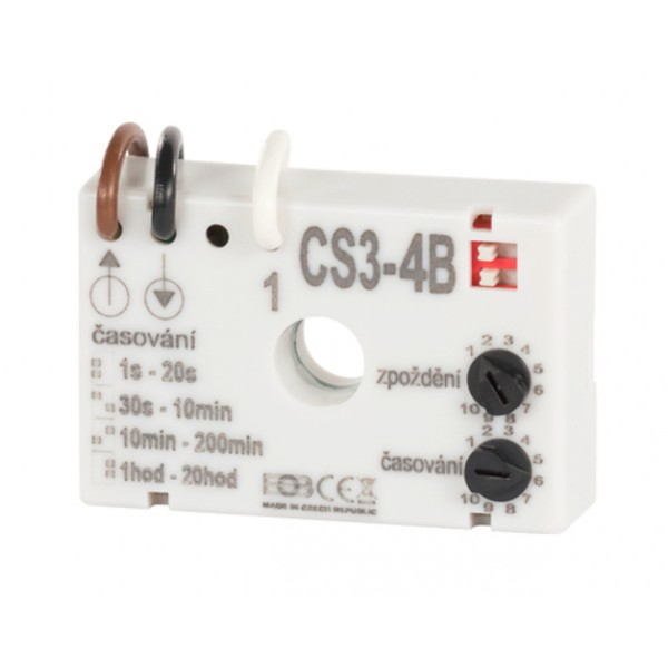 Časový spínač CS3-4B pre ventilátory s oneskorením bez nulového vodiča