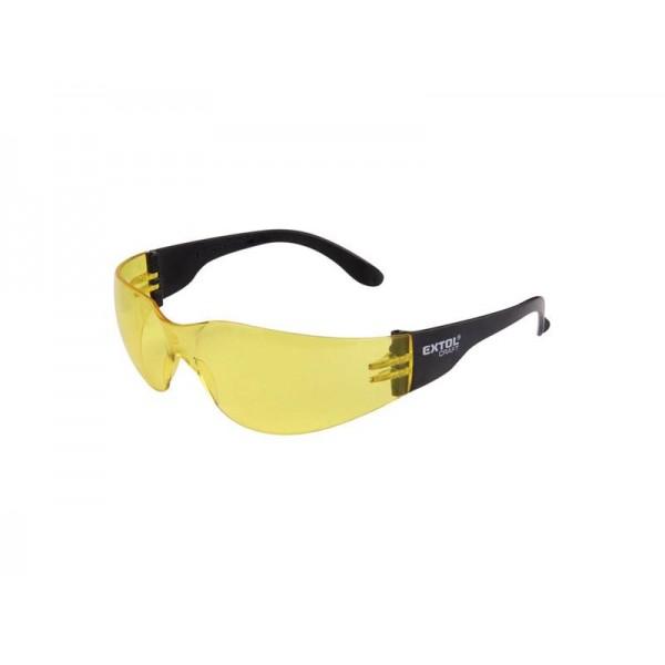 Okuliare ochranné, žlté, EXTOL CRAFT