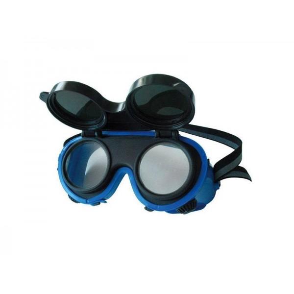 Okuliare zváračské, odklápacie kruhové zorníky triedy F, ochrana proti žiareniu