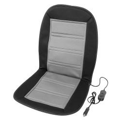 Vyhrievaný poťah sedadla s termostatom 12V LADDER sivý