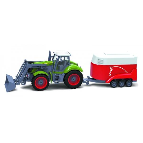 RC model traktor + príves BUDDY TOYS BRC 28.611