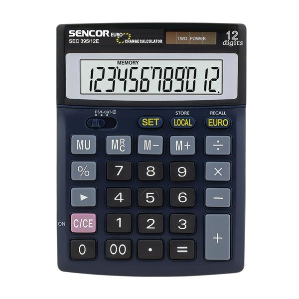 Kalkulátor stolný Sencor SEC 395 DUAL (EURO)