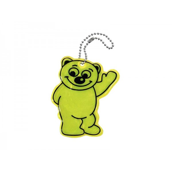 Reflexný prívesok BEAR - žltý