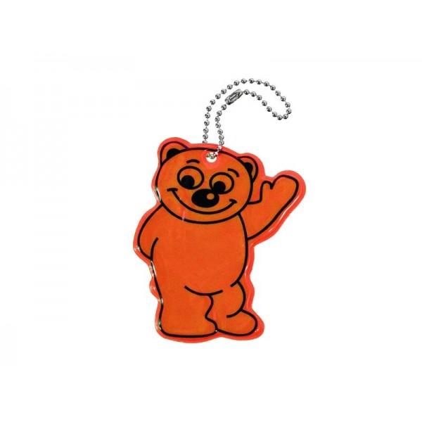 Reflexný prívesok BEAR - oranžový