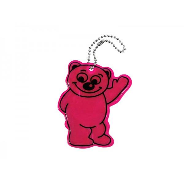 Reflexný prívesok BEAR - fialový