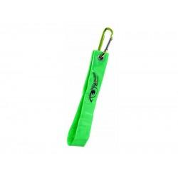 Reflexný prívesok s karabínou S.O.R. zelený