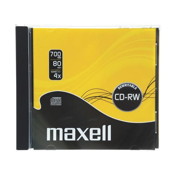 CD-RW 700MB MAXELL 4x 1PK JC Prepisovateľné