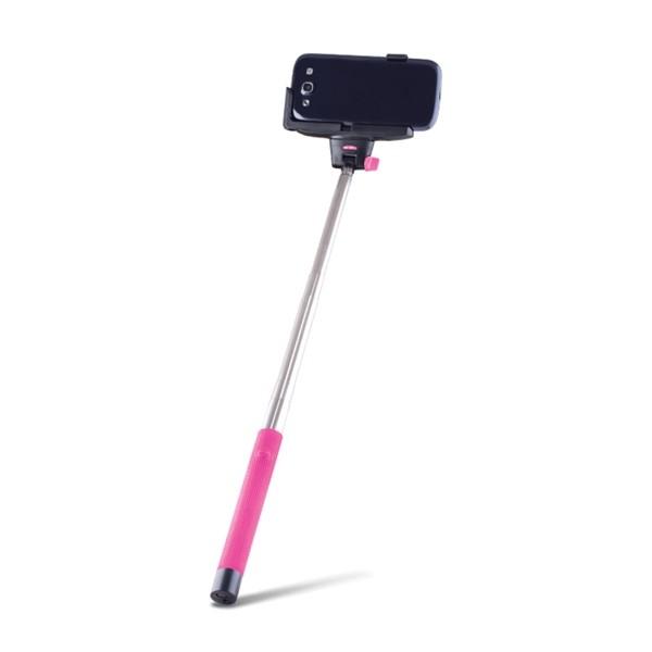 Selfie tyč so spúšťou BLUETOOTH FOREVER MP-100 ružová