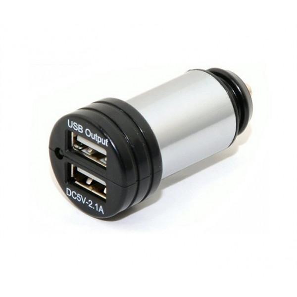 Nabíjačka do auta 12-24V 5V/2100mA E homologizácia, USB