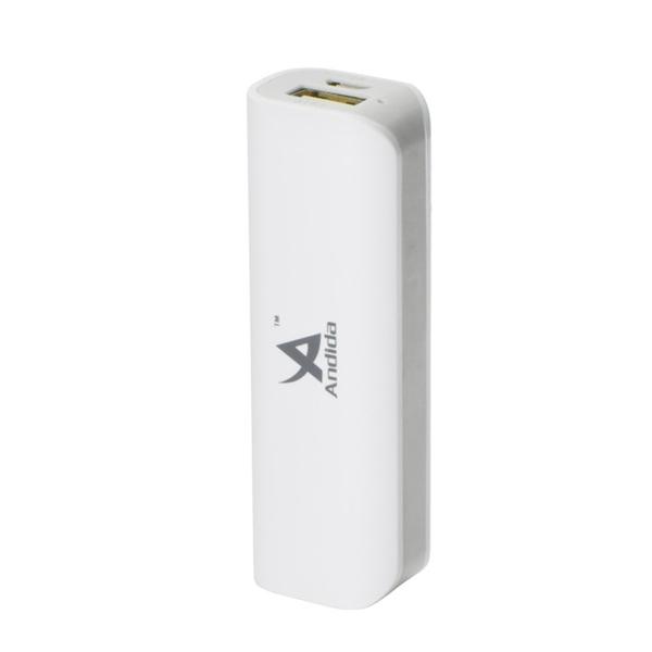 Externá batéria (Power bank) - 2 600 mAh, Andida, biela