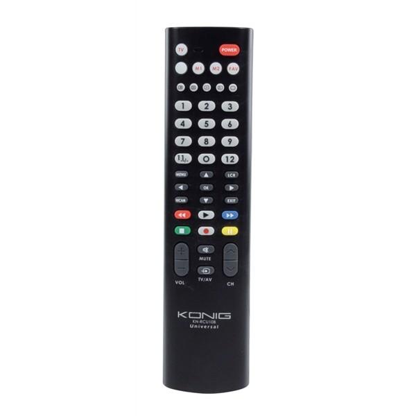 Ovládač pre TV diaľkový univerzálny KÖNIG KN-RCU10B pre 1 zariadenie