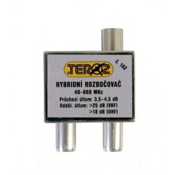 Anténny rozbočovač 2x TV IEC (hybridný) Teroz