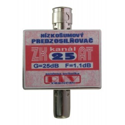 Antenný zosilňovač ZK25AT 25dB IEC