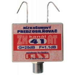 Antenný zosilňovač ZK41AT 25dB F DOPREDAJ
