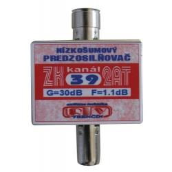 Antenný zosilňovač ZK39 2AT 30dB IEC