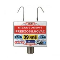 Anténny zosilňovač DVB-T 39K 5V 25dB F