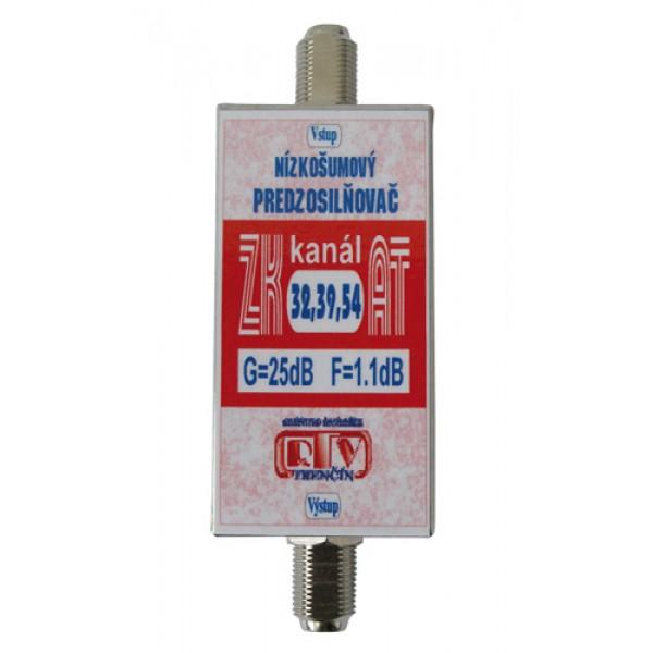 Antenný zosilňovač ZK32,39,54AT 25dB F-F