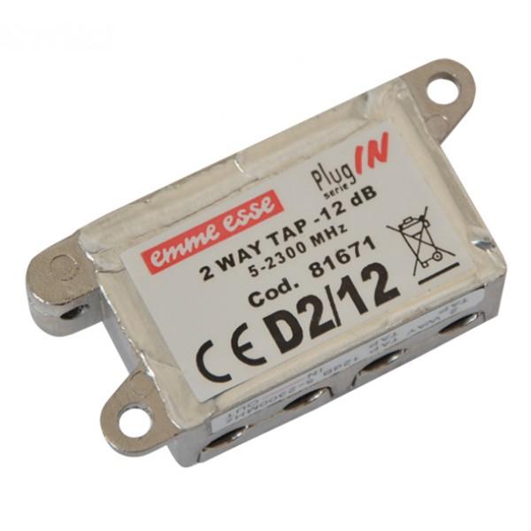 Antenný odbočovač dvojitý Emme Esse 81671 -12.0dB