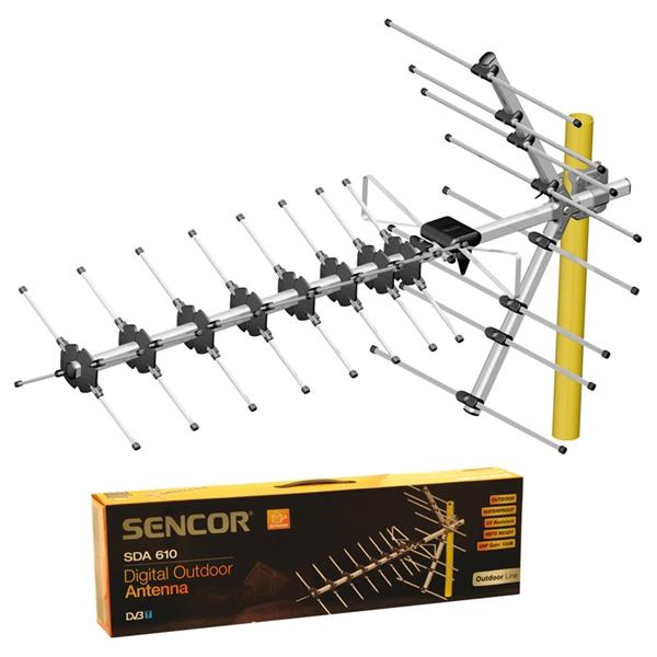 Anténa vonkajšia DVB-T SENCOR SDA-610