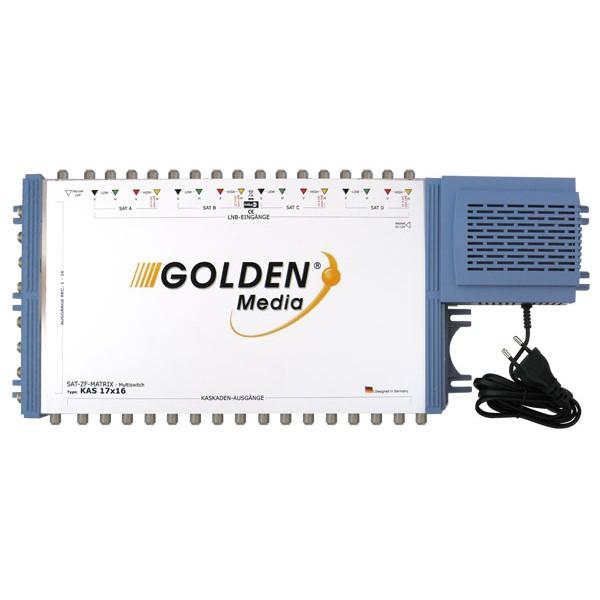 Satelitný multiprepínač Golden Interstar GI-17 16 kaskádový
