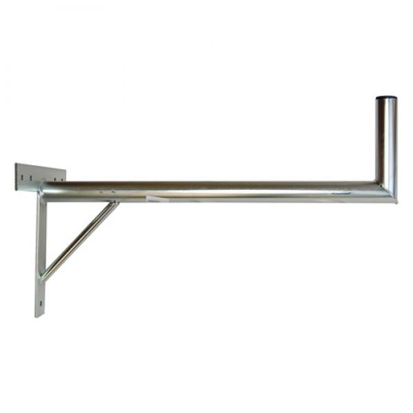Držiak antén na stenu 70 s krížom a podperou priemer 42mm žiar.