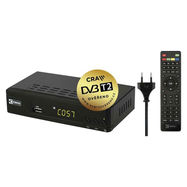 EMOS EM170 HD HEVC H265 set top box (DVB-T2)